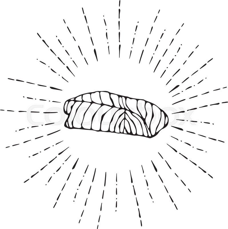 Image Steak Of Red Fish Salmon In Sun