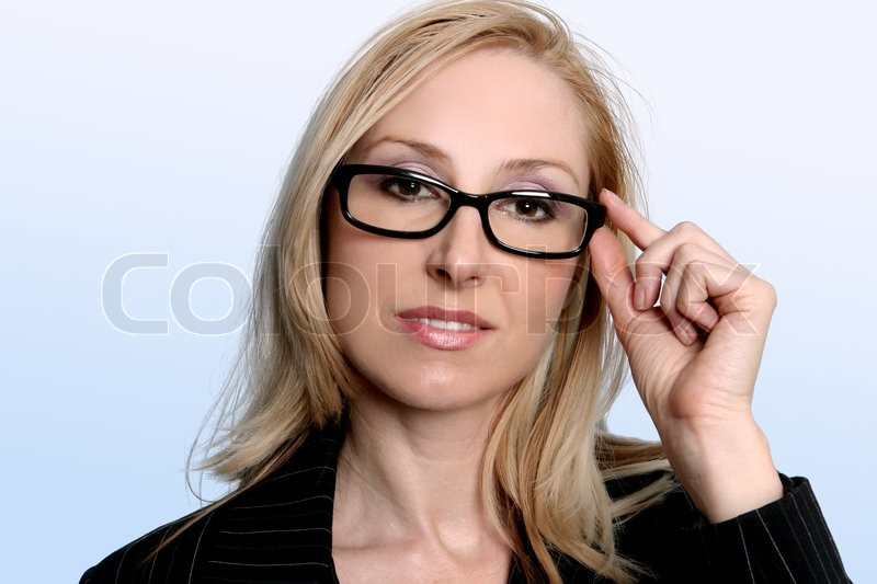 Professional Businesswoman Wearing Stock Photo
