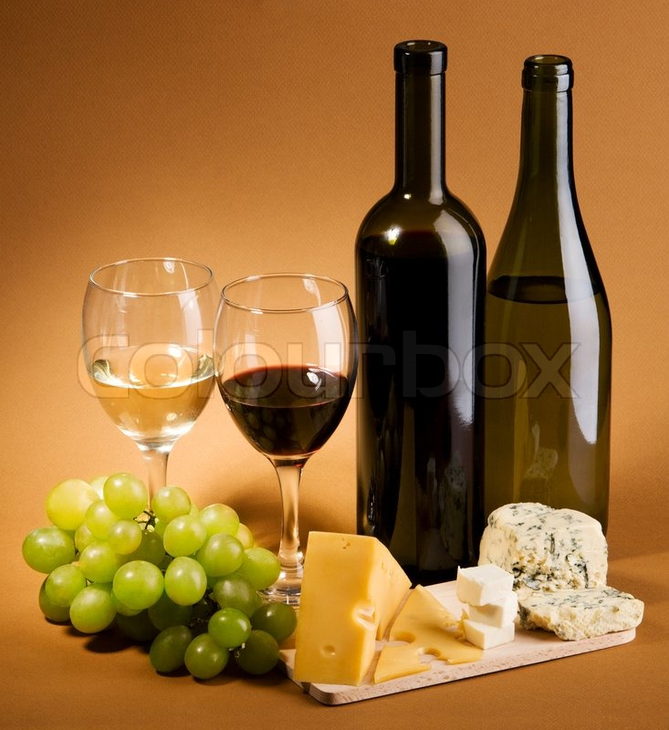 Wine And Cheese Still Life Stock Photo Colourbox
