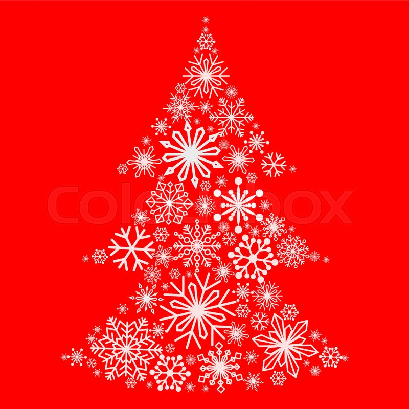 snowflakes in the form of a christmas tree winter themes