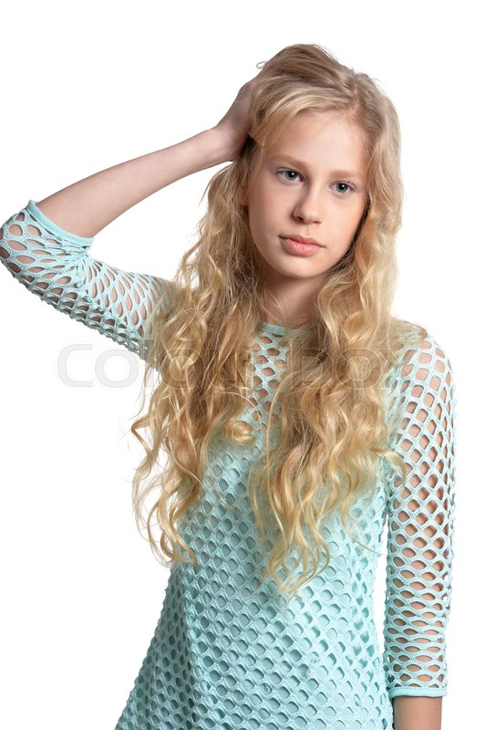 Delightful Cute teen girl portrait have