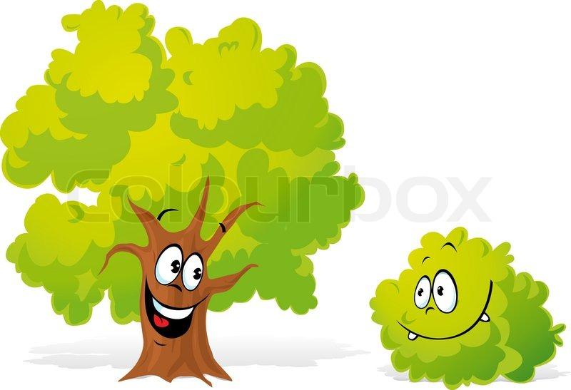 Baum und strauch cartoon vektorgrafik colourbox - Baum comic bilder ...