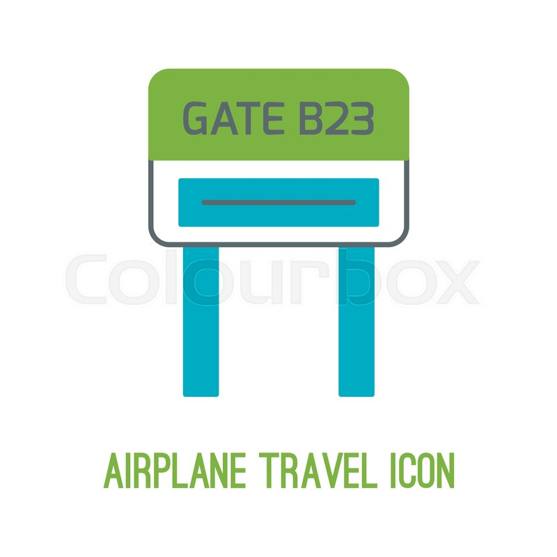 Vector illustration of airplane travel     | Stock vector