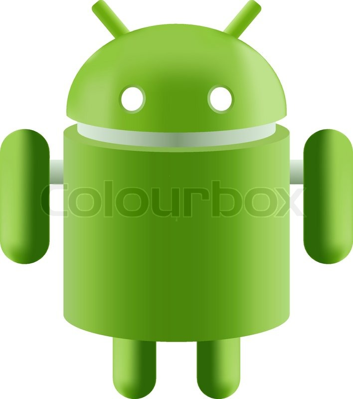 Editorial vector of 'Android Robot green on a white background'