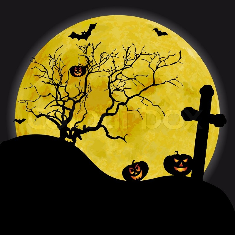 scary halloween background with yellow moon and old tree owl on branch clip art free Baby Owl Clip Art