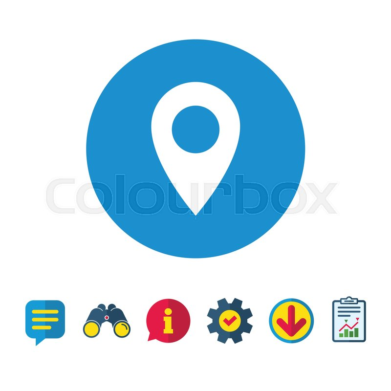 map pointer icon gps location symbol information report and
