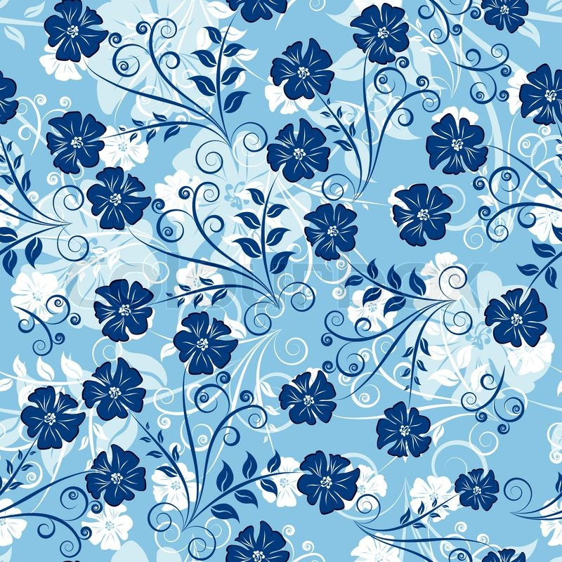 Floral Seamless Background For Yours Design Use Easy
