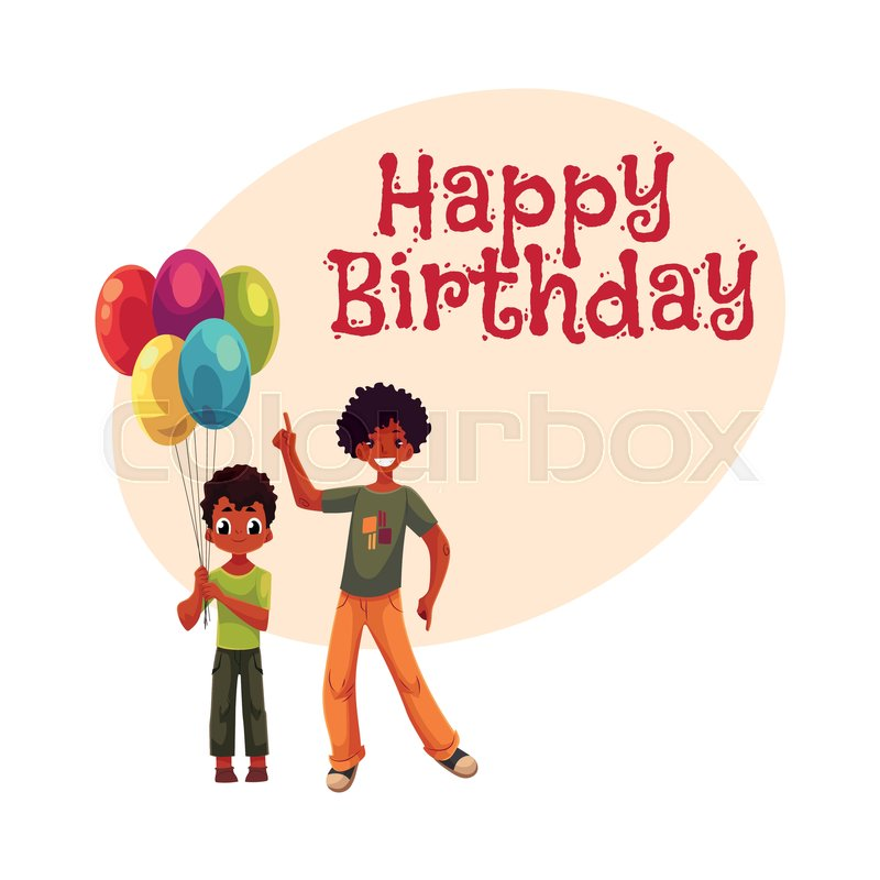 Happy Birthday Vector Greeting Card Poster Banner Design With