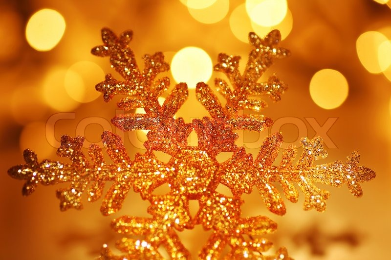 Christmas Holiday Background Photograph By Anna Om: Snowflake Background Golden Christmas Tree Ornament And