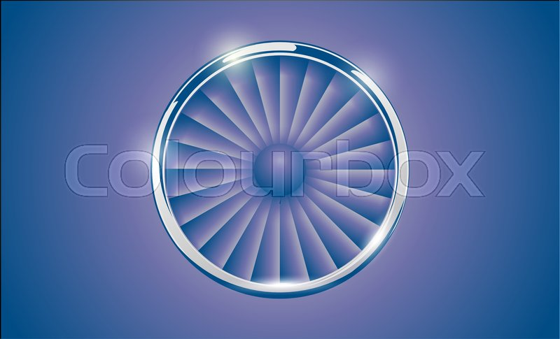 Jet Engine Turbine with chrome ring in     | Stock vector | Colourbox