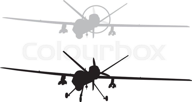 drone vector silhouette