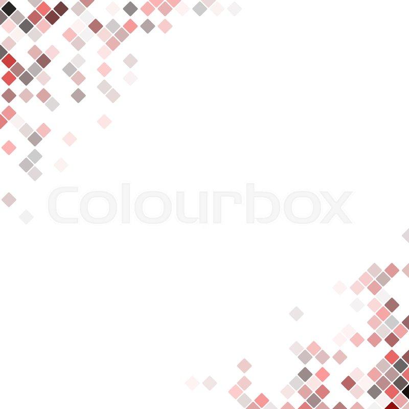 Abstract pixel square corner design     | Stock vector | Colourbox