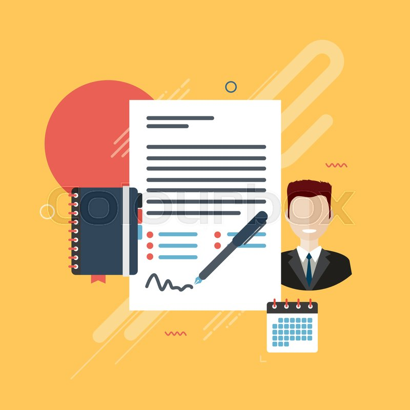 Documents Of Agreement Or Reports With Data For Signature
