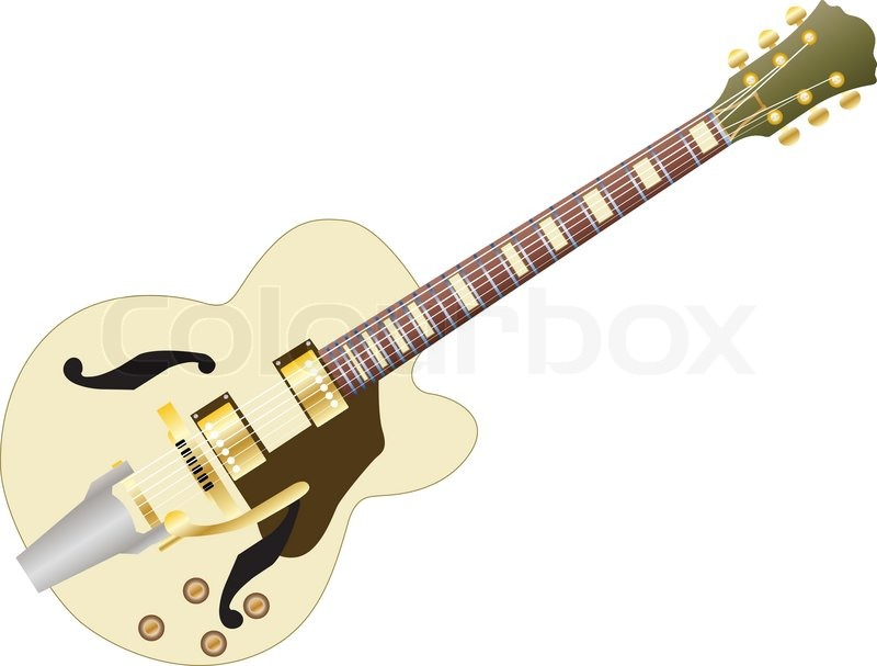 Electric Guitar Pattern Pattern of Color Electric Guitar For Design Use Vector