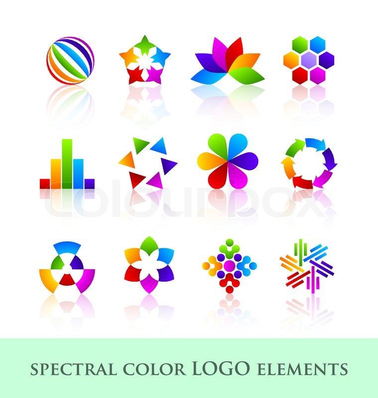 Set Of Company Logo Design Ideas Vector: Logo Design Elements