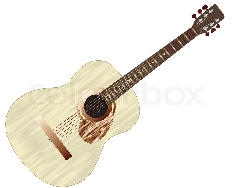 Pattern of color acoustic guitar for design use stock for Acoustic guitar decoration