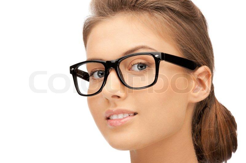 nahaufnahme bild der sch nen frau mit brille stockfoto colourbox. Black Bedroom Furniture Sets. Home Design Ideas