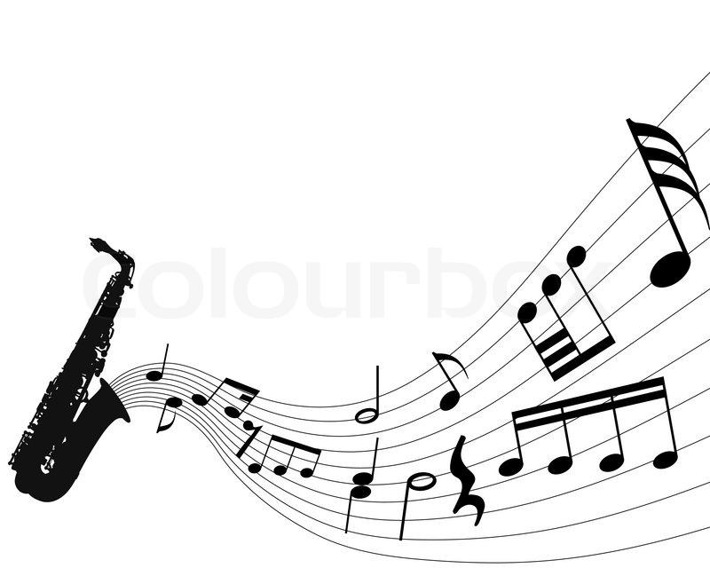 abstract music background with different notes and wind Breeze Clip Art Inexpensive Clip Art