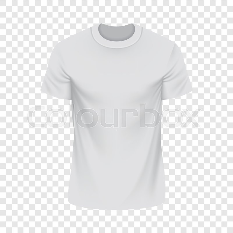 white tshirt mockup realistic illustration of white tshirt vector