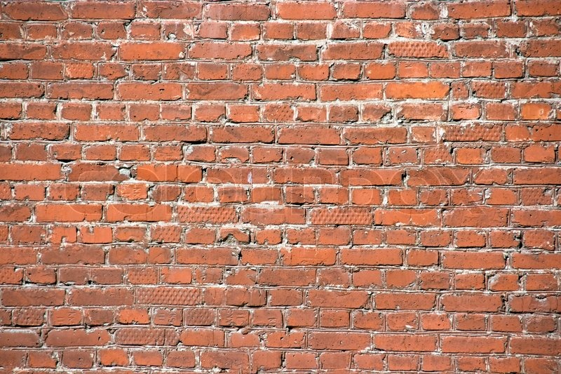 Nice Brick Wall Background Outside Of The House, Stock Photo