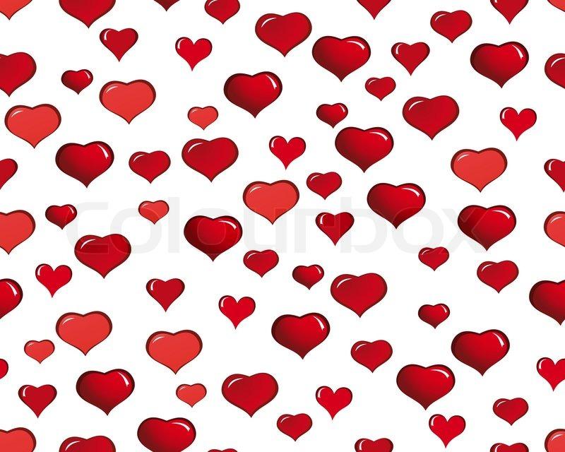 valentine hearts seamless background stock vector colourbox