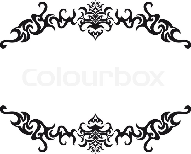 abstract gothic vector frame for design use stock vector colourbox rh colourbox com vector frame vf-r-05 vector frame borders