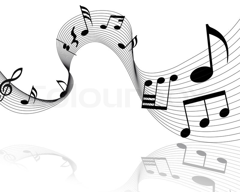 grunge vector musical notes background for design use stock vector rh colourbox com Music Note Clip Art Vector Colorful Music Notes