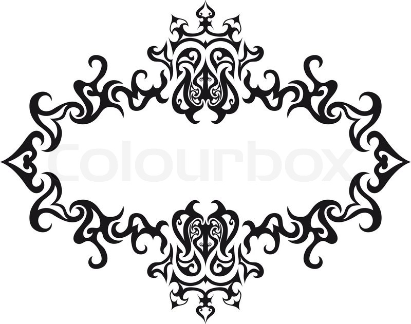 Abstract gothic vector frame for design use | Stock Vector | Colourbox