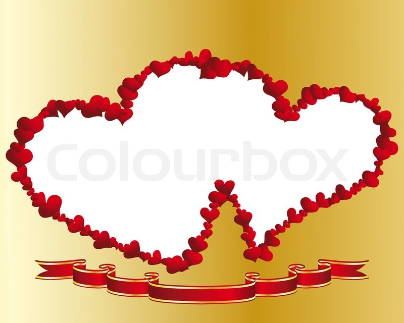 St. Valentine Day vector heart frame for design use | Stock Vector ...