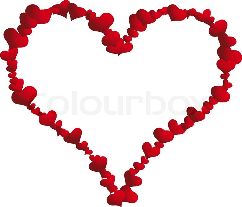 St. Valentine Day Vector Heart Frame For Design Use | Stock Vector |  Colourbox