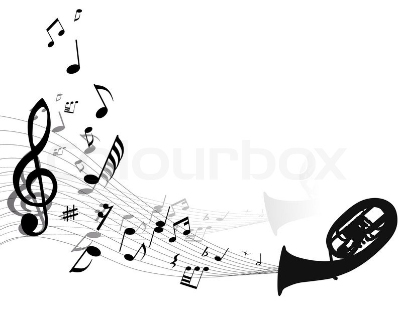 Abstract Music Notes Art: Abstract Music Background With ...