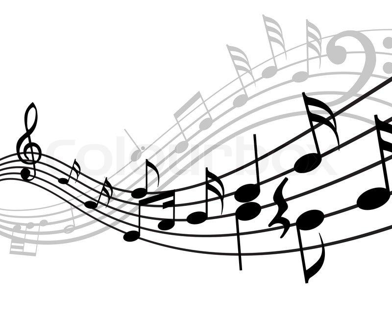 Line Art Music Notes : Musiknoten sachen vektor hintergrund für den einsatz in