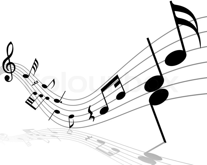 musical noten mitarbeiter mit linien und schatten