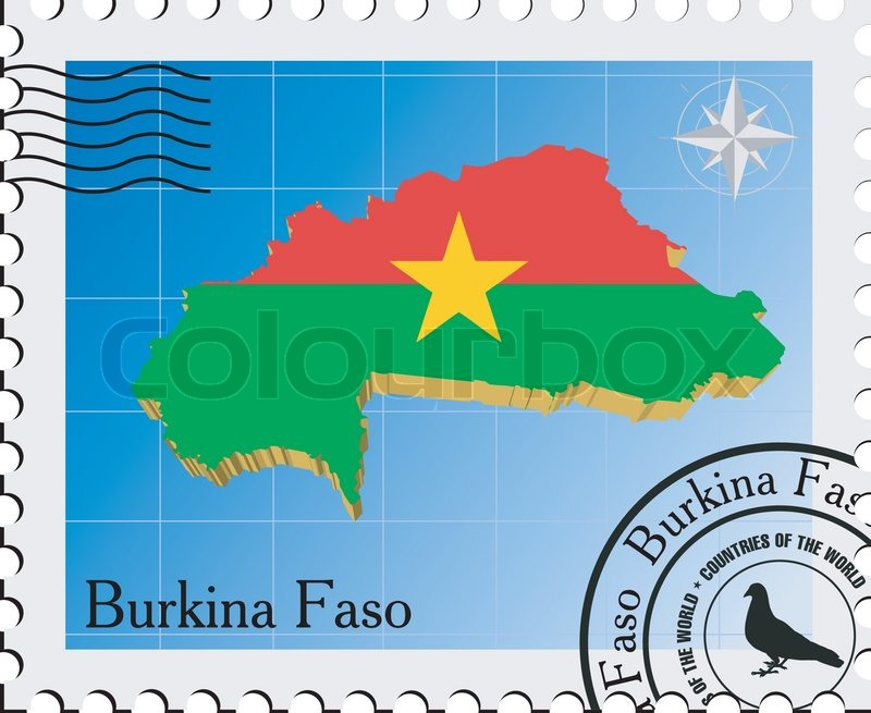 Vector Stamp With The Image Maps Of Stock Vector Colourbox