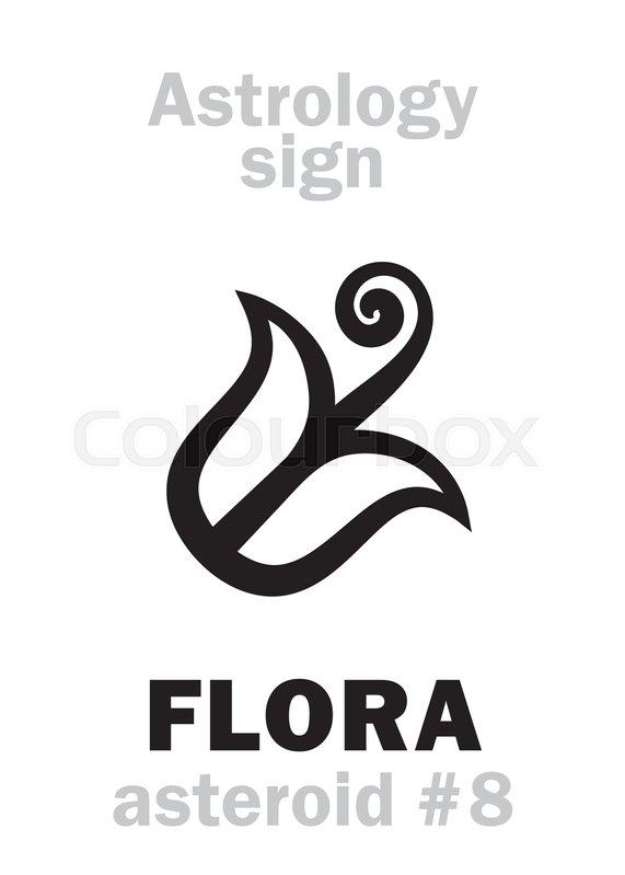 Astrology Alphabet Flora Asteroid 8 Hieroglyphics Character Sign