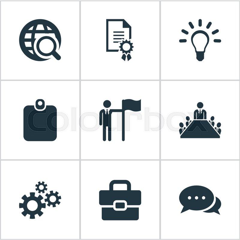 Elements Leader, Conversation,     | Stock vector | Colourbox