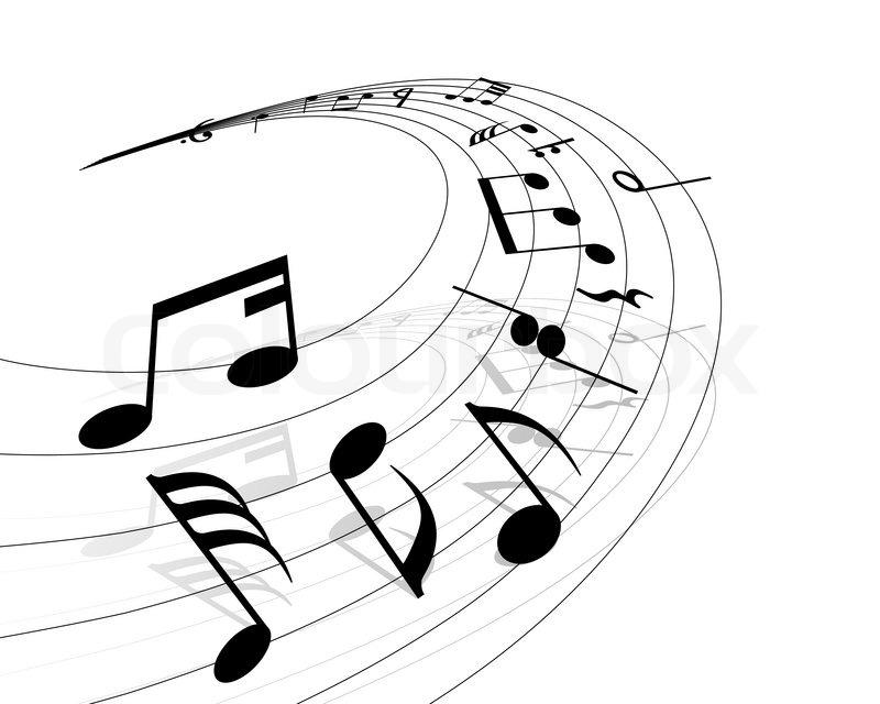 noten hintergrund mit linien vektor-illustration