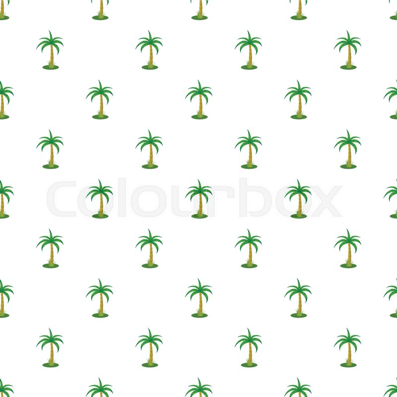 Single palm tree pattern seamless       Stock vector   Colourbox