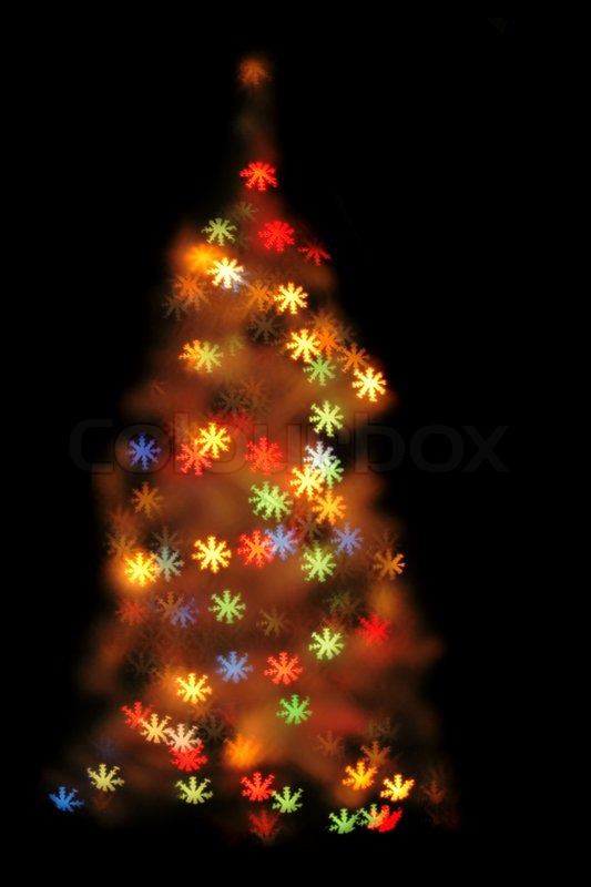 Nice xmas background from the christmas lights | Stock Photo | Colourbox
