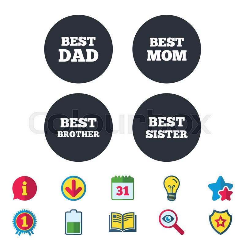 Best Mom And Dad Brother And Sister Icons Award Symbols Calendar