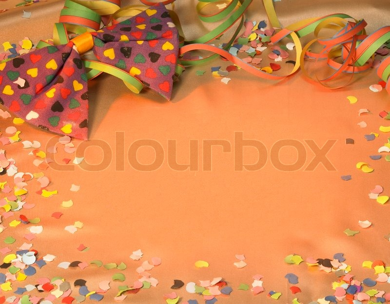 Colorful Symbolic Carnival And Party Background With Decorative Blow