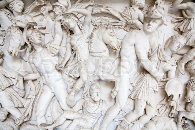 fragment of ancient greek bas relief stock photo colourbox