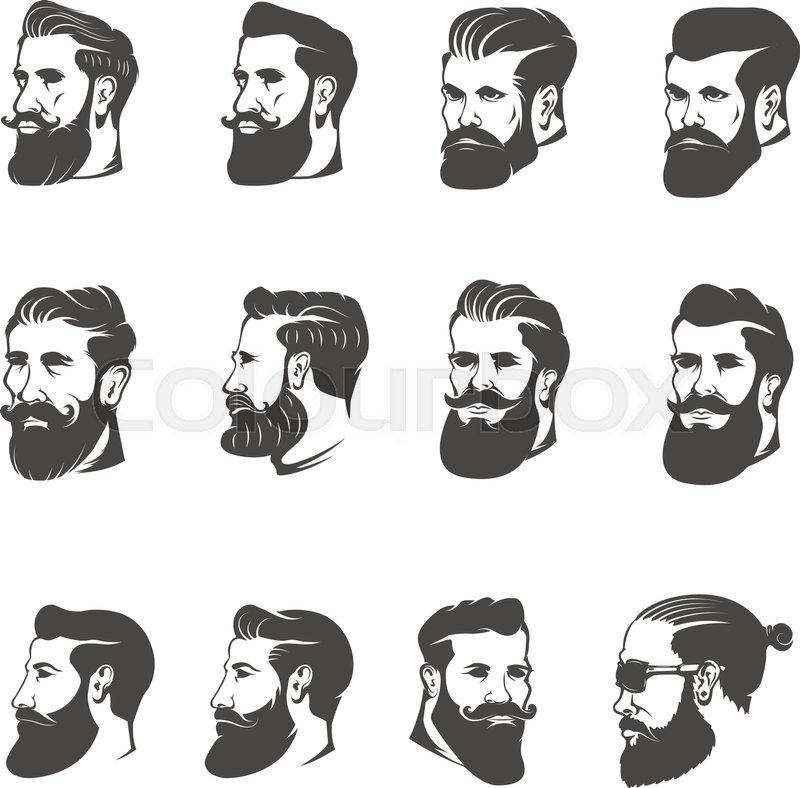 Beard Man With Sungles Icon Royalty Stock Vector Art