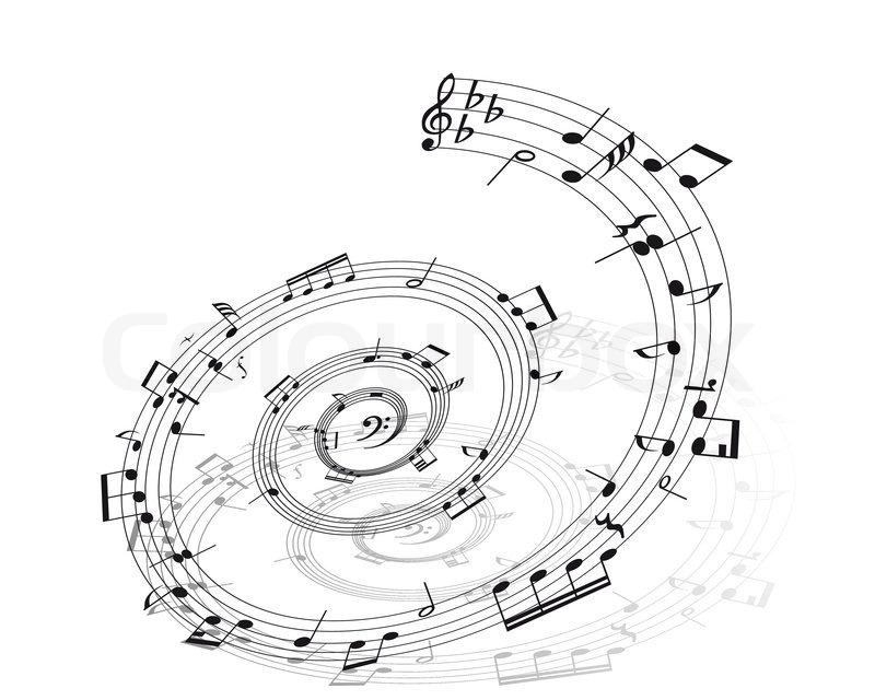 musik hintergrund mit verschiedene noten auf dem weißen