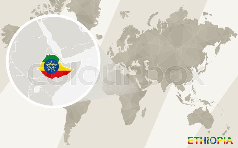 Zoom on ethiopia map and flag world map stock vector colourbox stock vector of zoom on ethiopia map and flag world map gumiabroncs Choice Image