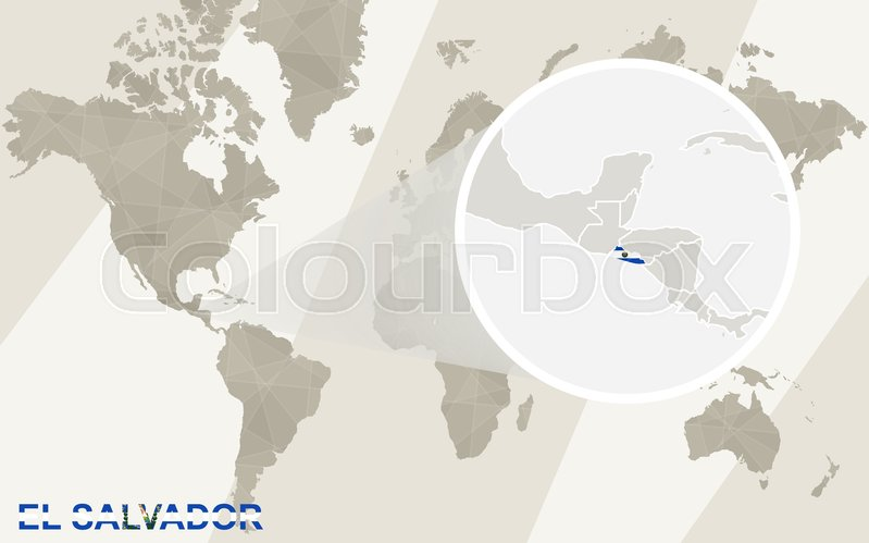 Zoom on el salvador map and flag world map stock vector colourbox stock vector of zoom on el salvador map and flag world map gumiabroncs Image collections