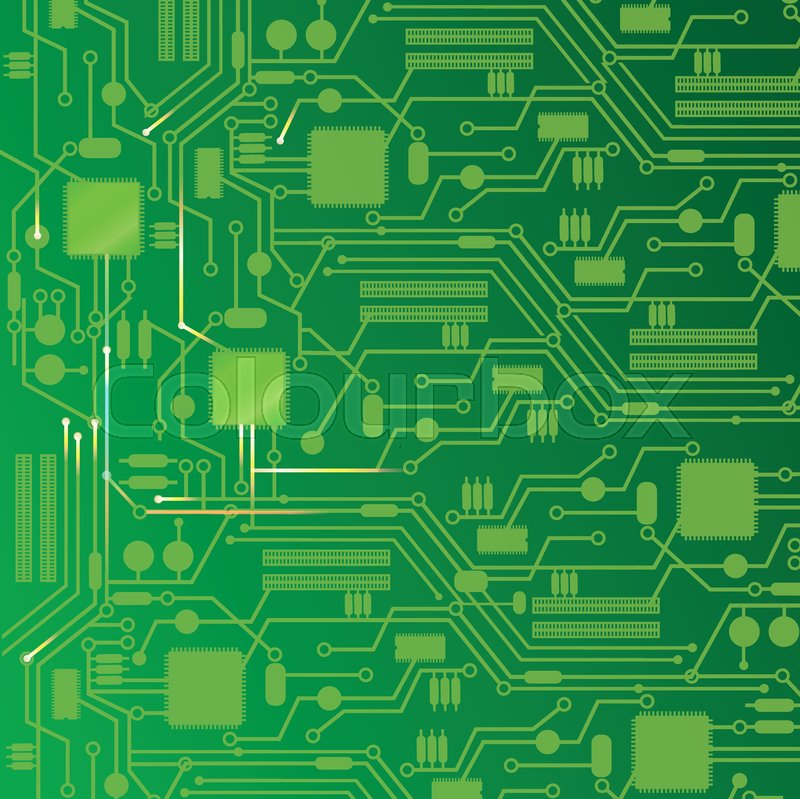 computer circuit board abstract background vector illustration vector