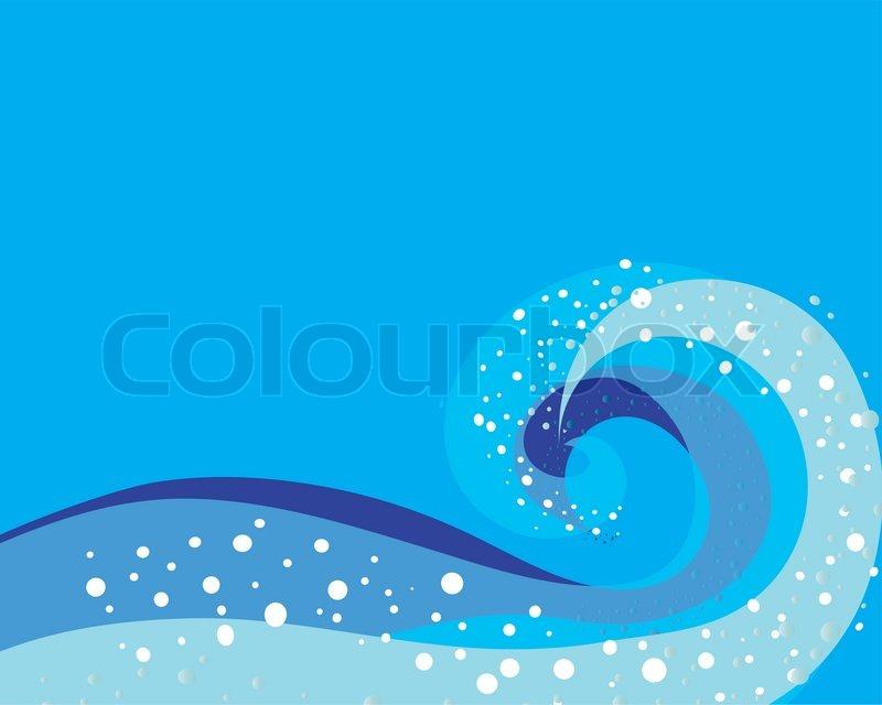 storm ocean wave pattern for design stock vector