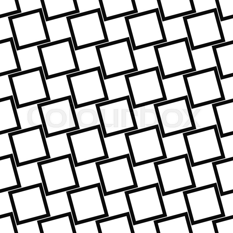 Abstract Seamless Black And White Angular Square Pattern Design Custom Angular Pattern
