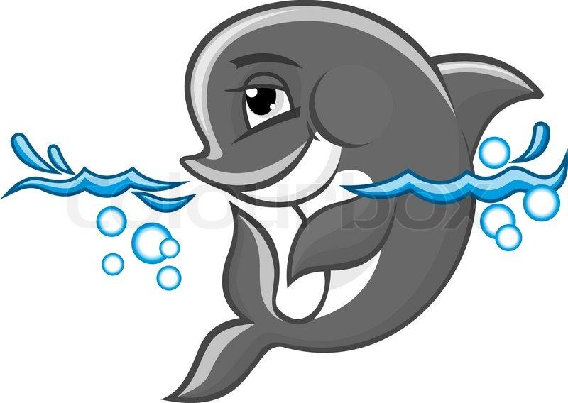 sch ne blaue delphin im wasser f r die natur oder kinder. Black Bedroom Furniture Sets. Home Design Ideas